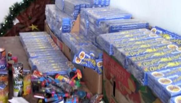 Cajamarca: decomisan más de una tonelada de pirotécnicos