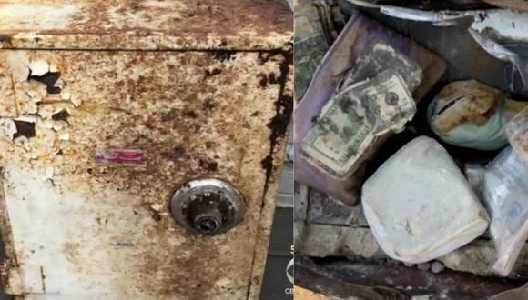 La caja fuerte fue valorizada en 50 mil dólares. (Foto: Captura de pantalla CBS NY)