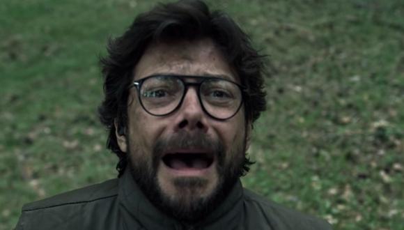"""Ni siquiera Álvaro Morte (El Profesor) pudo resistirse a una parodia de """"La casa de papel"""". Foto: Netflix."""