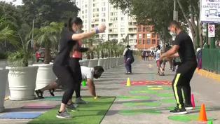 Campo de Marte se convierte en gimnasio al aire libre