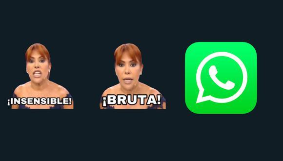 ¡Ya puedes tener los stickers de WhatsApp de Magaly Medina totalmente gratis aquí! (Foto: WhatsApp)