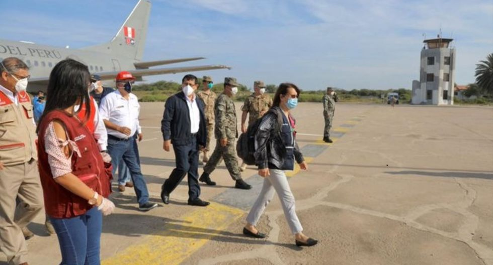 Pilar Mazzetti, jefa de Comando COVID-19, llegó hoy Lambayeque para supervisar ejecución de plan contra enfermedad.