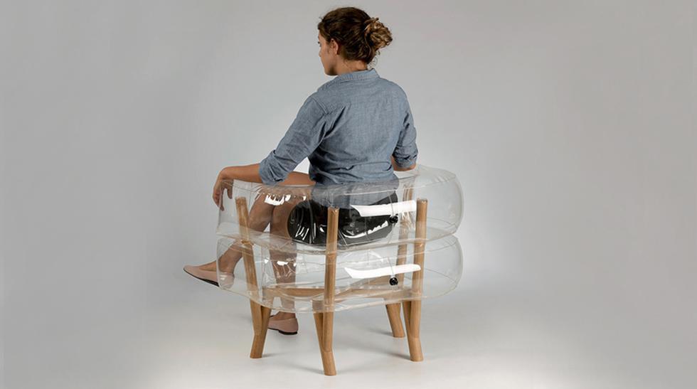 Este novedoso mueble inflable es transparente y ahorra espacio - 1