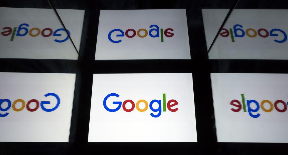 Logotipo de Google se muestra en una tableta en París el 18 de febrero de 2019. (Foto: AFP)