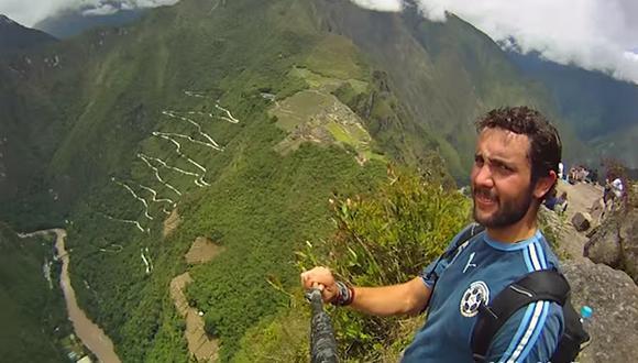 VIDEO: Joven logró un original 'selfie' en su vuelta al mundo