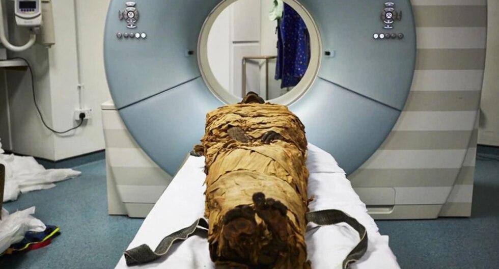 El cuerpo momificado de Nesyamun. (Leeds Teaching Hospitals / Leeds Museos y Galerías.)