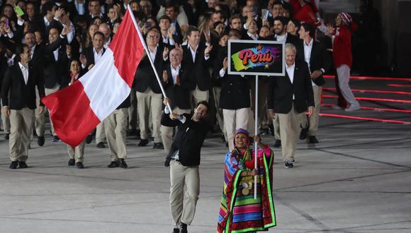 Stefano Peschiera, el abanderado en Lima 2019. (Foto: El Comercio)