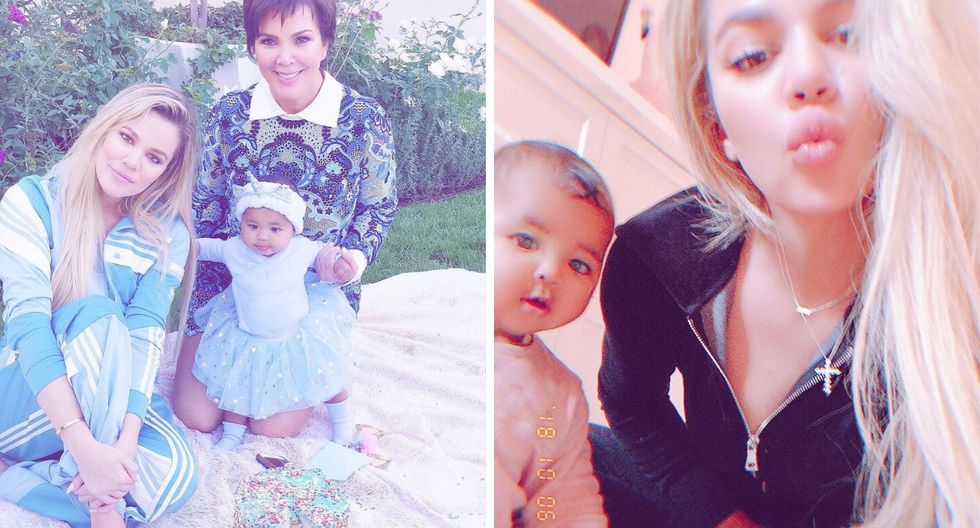 Así celebra Khloé Kardashian el primer cumpleaños de su hija True (Fotos: Instagram)