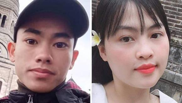 Nguyen Dinh Luong (izquierda) y Pham Thi Tra My, cuyos familiares temen que se encuentren entre las víctimas.