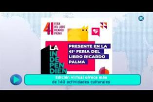 Feria del libro Ricardo Palma: edición virtual ofrece más de 140 actividades culturales