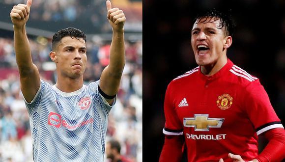 Cristiano Ronaldo y Alexis Sánchez tienen la misma cantidad de goles en Manchester United. (Foto: AFP - Reuters)