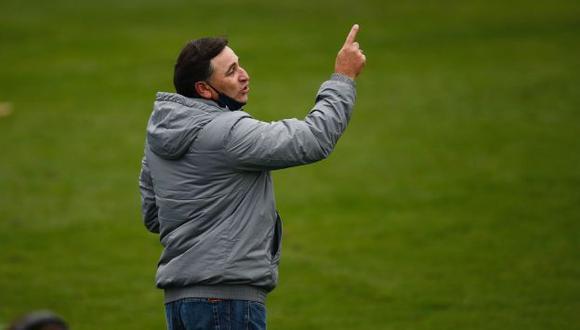 Carlos Bustos destacó el trabajo de Hernán Barcos contra Cusco FC. (Foto: GEC)