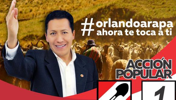 Voceros de Acción Popular marcan distancia de las declaraciones de su colega Jesús Arapa (Foto: Facebook de Jesús Arapa)