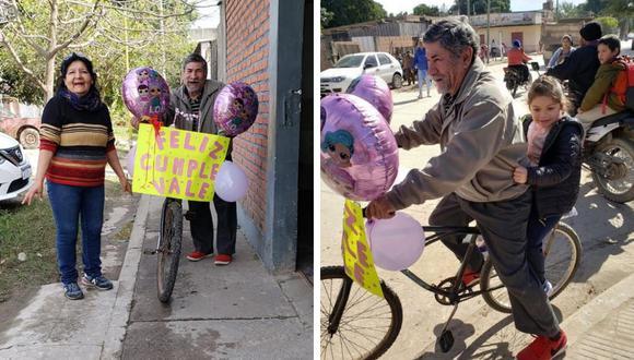 El gesto de un abuelo hacia su nieta se volvió tendencia en las redes sociales. (Foto: Maria Emilia Daniel en Facebook)