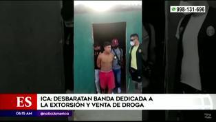 Ica: Desbaratan banda dedicada a la venta de droga y extorsión