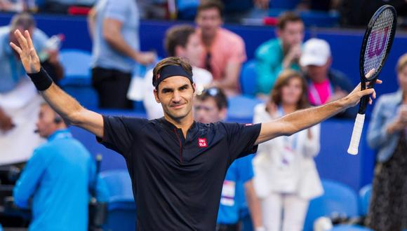 Roger Federer venció 2-0 a Alexander Zverev en la final de la Copa Hopman. (Foto: AFP)