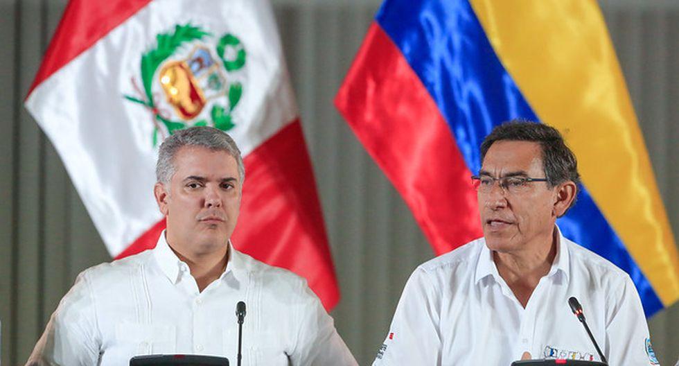 Iván Duque y Martín Vizcarra se reunieron en Pucallpa en el V Gabinete Binacional Perú-Colombia. (Foto: Presidencia)