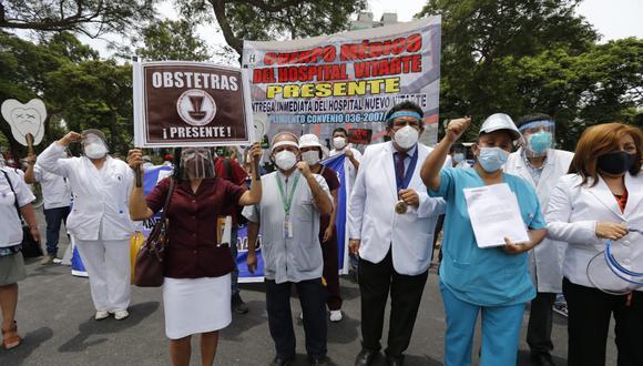 Los médicos reclaman al Minsa mejoras para el gremio. (Foto: Violeta Ayasta/@photo.gec)