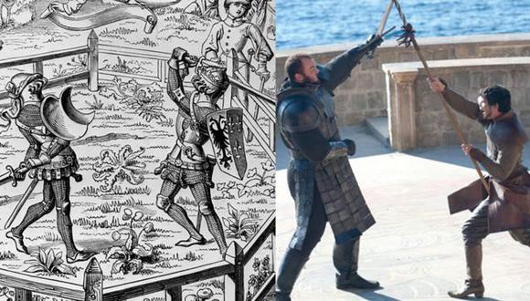 Los juicios por combate fue una práctica común en la Europa medieval. Su mejor versión -aunque no la única- en Juego de Tronos fue la lucha entre La Montaña y Obery Martell. Foto: GETTY IMAGES/HBO