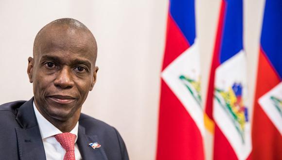 En esta foto de archivo tomada el 22 de octubre de 2019, el presidente Jovenel Moise está en el Palacio Presidencial de Haití durante una entrevista con AFP. (Foto de Valerie Baeriswyl / AFP).
