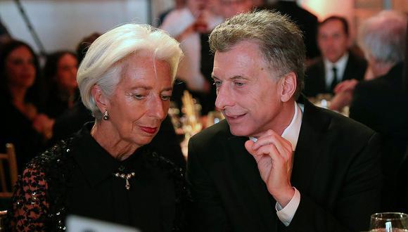 Christine Lagarde, directora del FMI y Mauricio Macri, presidente de Argentina buscan llegar a un acuerdo sobre el crédito de US$ 50.000 millones otorgado por el organismo. (Foto: Reuters)