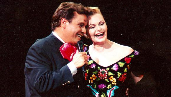 Juan Gabriel y Rocío Dúrcal. (Foto: GDA)