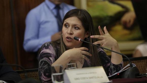 Yeni Vilcatoma ha exigido a Fuerza Popular que revise su propuesta para derogar la Ley 30737. (Foto: GEC)