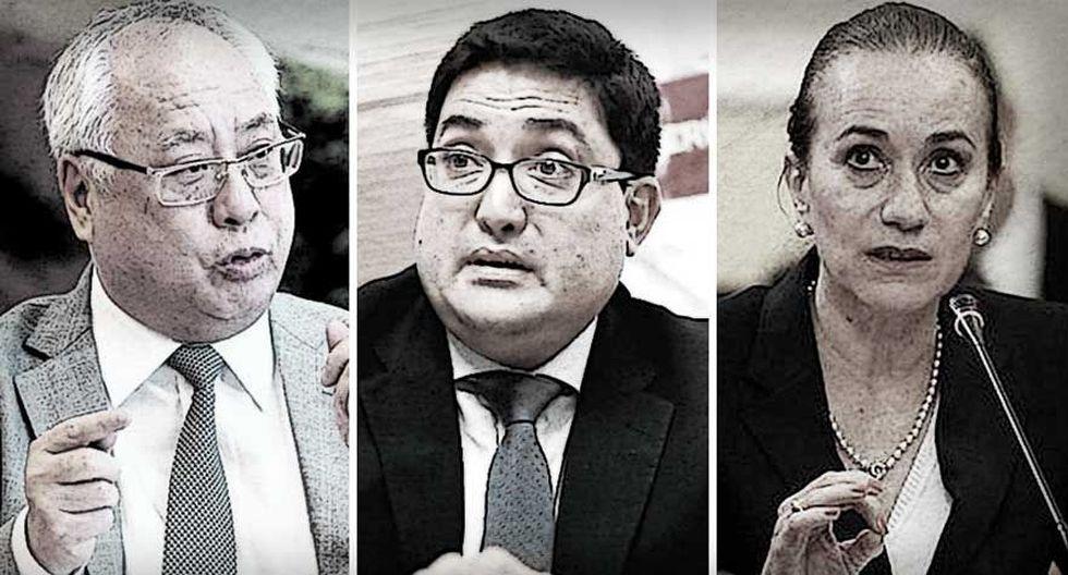Algunos de los protagonistas de la reciente crisis que afronta el Poder Ejecutivo. (Foto: El Comercio)