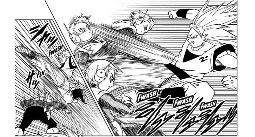Gokú se enfrenta a Merus, un miembro de la patrulla galáctica. (Fuente: Shueisha)