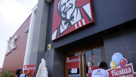 Surco: clausuran local de KFC por incumplir recomendaciones