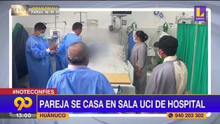 Huánuco: pareja se casó en área UCI de hospital Hermilio Valdizán