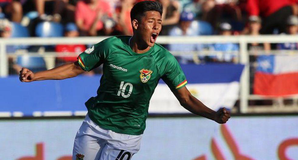 Ramiro Vaca abrió el marcador ante Chile en el Sudamericano Sub 20. Al final, el resultado fue 1-1. (Foto: AFP)