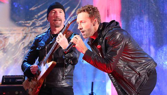 U2 sonó así con Chris Martin y Bruce Springsteen como cantantes