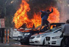 Chile: Carros incendiados y choques con la policía en el inicio del Festival de Viña del Mar | FOTOS Y VIDEOS