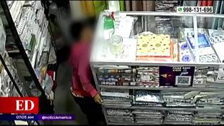 Padre utiliza a niños para robar en tienda