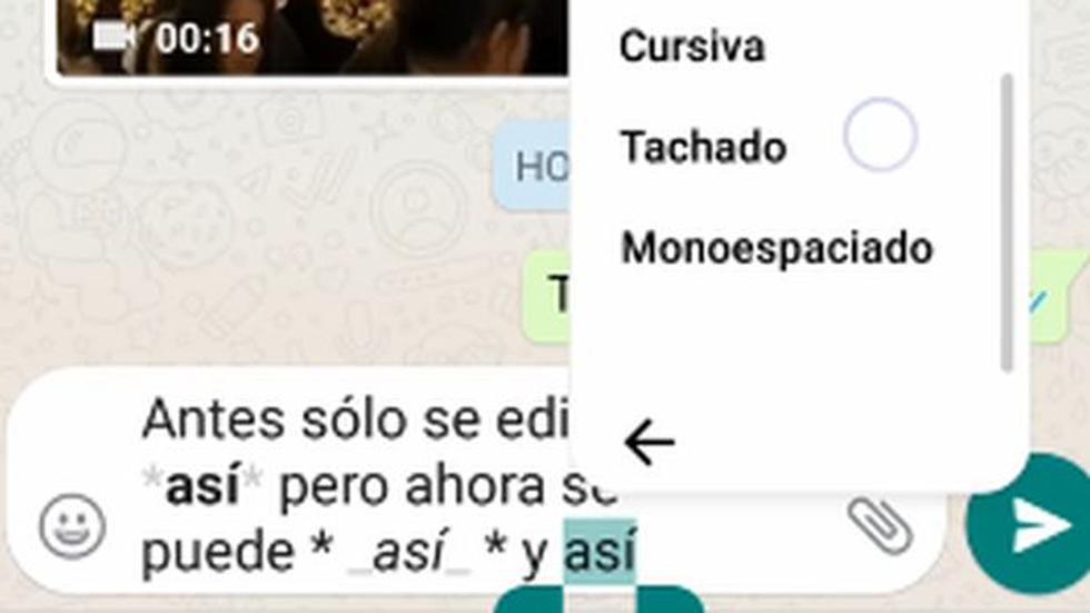 WhatsApp: nueva actualización permite modificar textos - 2