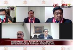 Miembros del JNE rechazaron por mayoría fundamentos de Fuerza Popular para pedir firmas de electores