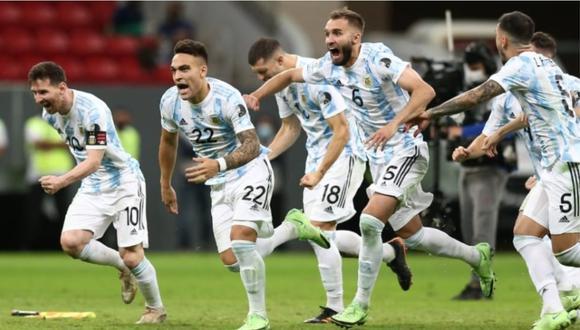 Lionel Messi y compañía celebran el pase a la final de la Copa América. (Foto: Jesús Saucedo / GEC)