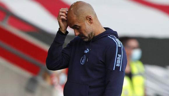 Pep Guardiola ha sido campeón con Manchester City en la Premier League 2018 y 2019. (Foto: AFP)