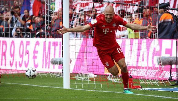 Robben cerró su décima temporada con la camiseta del Bayern Múnich. (Foto: AFP)
