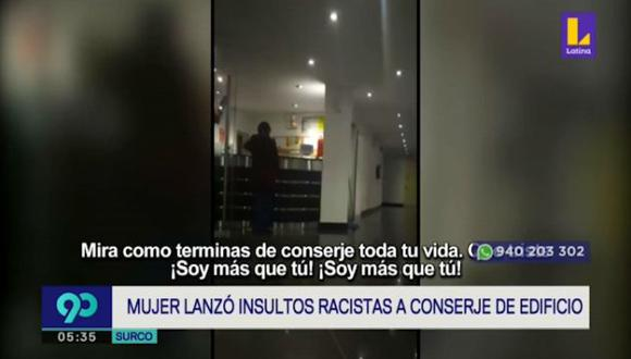 Todo quedó registrado por uno de los testigos que presenció la agresión verbal.  (Foto captura: Latina)