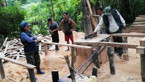Loreto: hallan escondite utilizado para tala ilegal en Reserva Nacional Pacaya Samiria