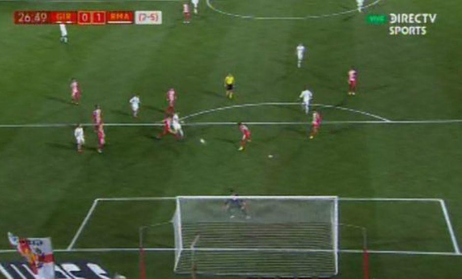 Real Madrid vs. Girona: Benzema marcó el 1-0 con este golazo. (Foto: captura)