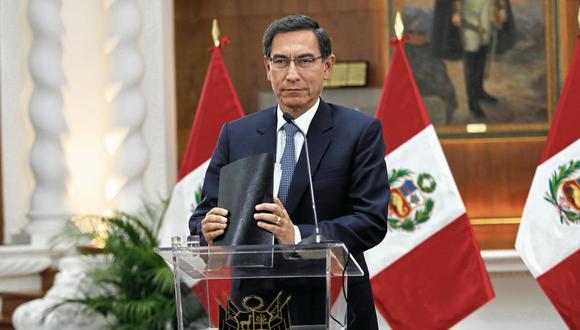 LIMA, VIERNES 27 DE SETIEMBRE DEL 2019El Presidente Martin Vizcarra en una conferencia de prensa  anuncia cuestión de confianza sobre reglas para elección del TC