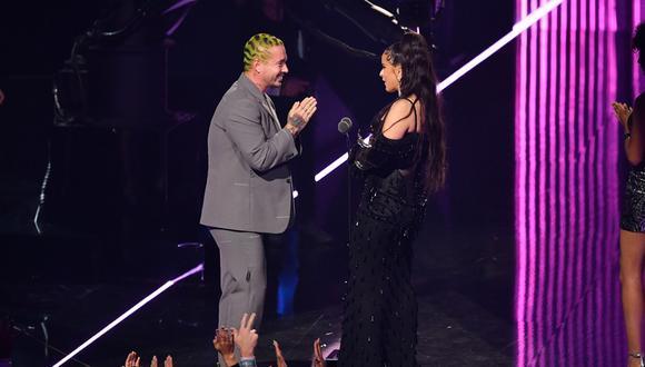 Rosalía y J Balvin en los MTV Video Music Awards 2019. (Foto: Agencias)