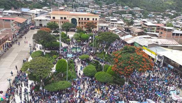 Piura: comuneros reavivan con marcha oposición al proyecto minero Río Blanco. (Foto: Gianina Prieto)
