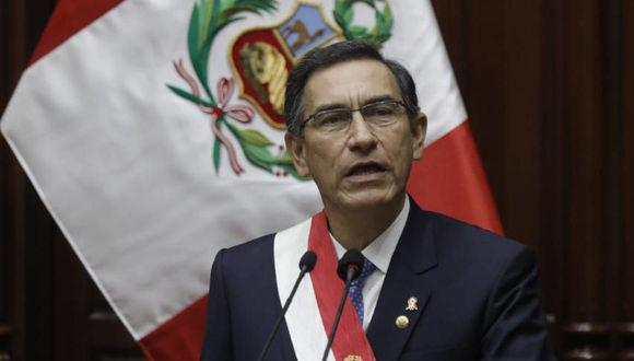 Martín Vizcarra ofrecerá este martes su último mensaje a la Nación como presidente de la República. (Foto: Anthony Niño de Guzmán)