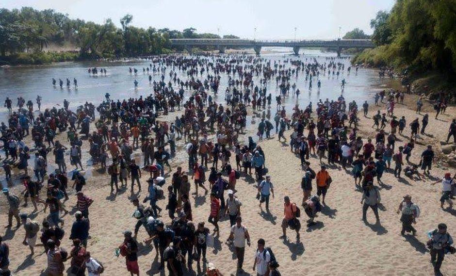 El río Suchiate es un río que marca la frontera occidental entre México y Guatemala. (Foto: AFP)
