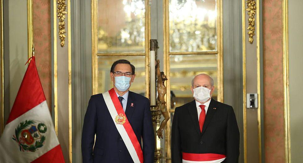 Pedro Cateriano juramentó como jefe del gabinete ministerial en el último año de Martín Vizcarra. (Foto: Presidencia)