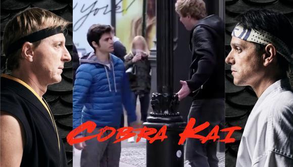 Un video viral grabado en 2018 en Nueva York mostraba la peor pesadilla de un matón para promocionar el estreno de Cobra Kai en YouTube.   Crédito: thekaratekid.fandom.com / Composición.